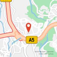 Mapa com localização da Loja CTTQUEIJAS