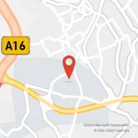 Mapa com localização da Loja CTTS. CARLOS (MEM MARTINS) (Fechada)