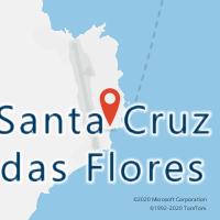 Mapa com localização da Loja CTTSANTA CRUZ DAS FLORES