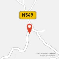 Mapa com localização da Loja CTTSARZEDAS