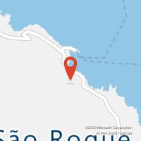 Mapa com localização da Loja CTTS.ROQUE DO PICO