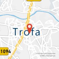 Mapa com localização da Loja CTTTROFA