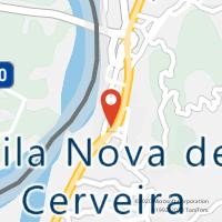 Mapa com localização da Loja CTTVILA NOVA DE CERVEIRA