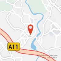 Mapa com localização da Loja CTTVILA NOVA SANDE (GUIMARÃES)