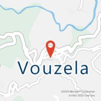 Mapa com localização da Loja CTTVOUZELA