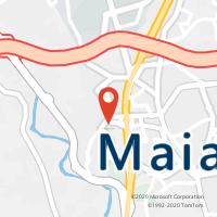 Mapa com localização da Loja CTTZOO (MAIA)